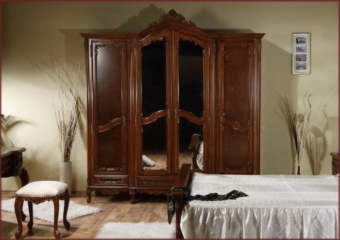 Гардероб 4 врати Cleopatra - арт мебели естествено дърво