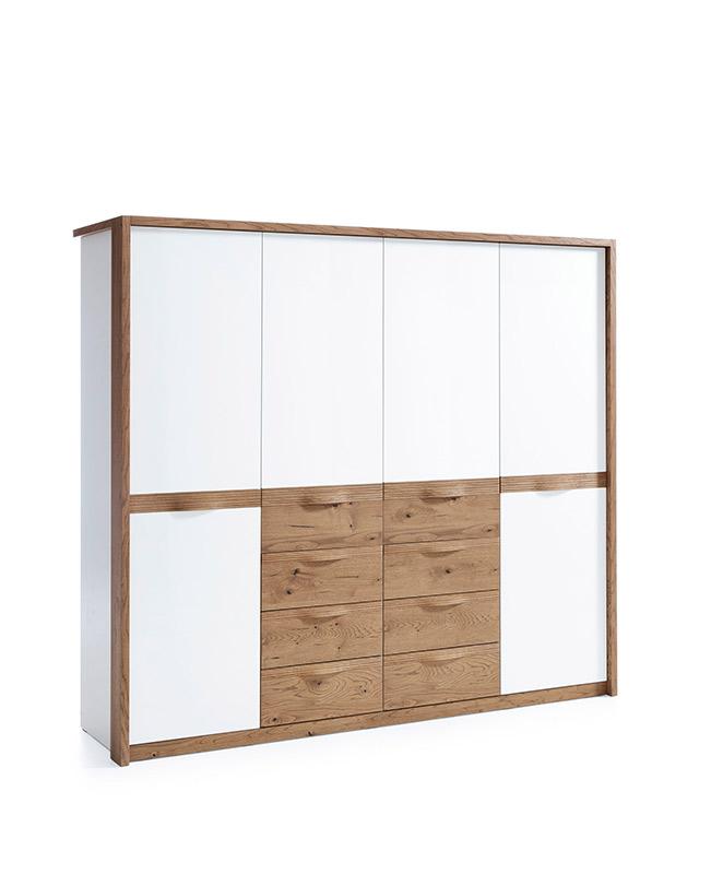 Гардероб с 4 врати - CM-4D Como - арт мебели естествено дърво