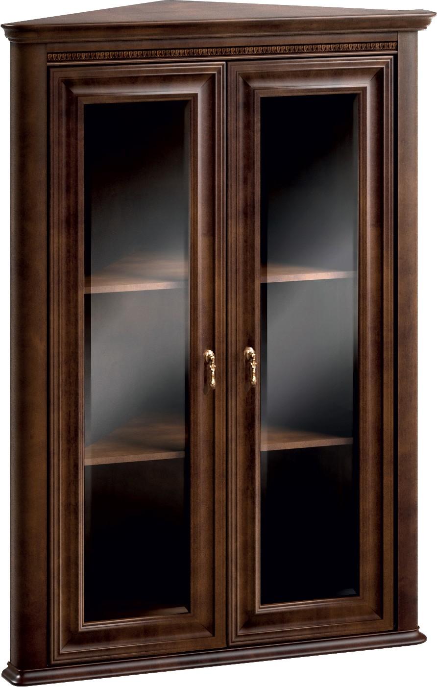 Горна част на ъглова витрина V-W/n Verona - арт мебели естествено дърво