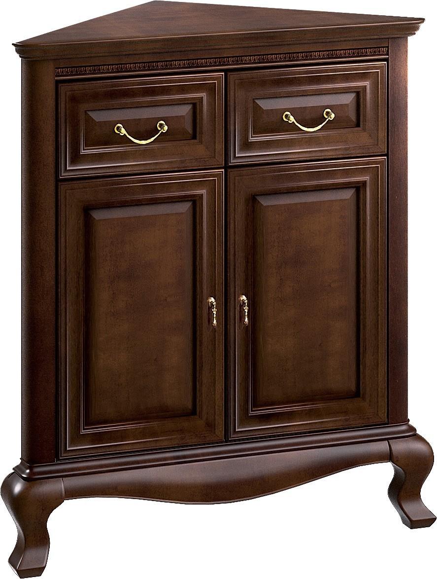 Долна част на ъглова витрина V-K/n Verona - арт мебели естествено дърво