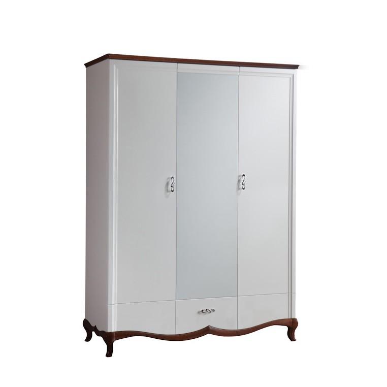 Троен гардероб MI-3DL Milano - арт мебели естествено дърво