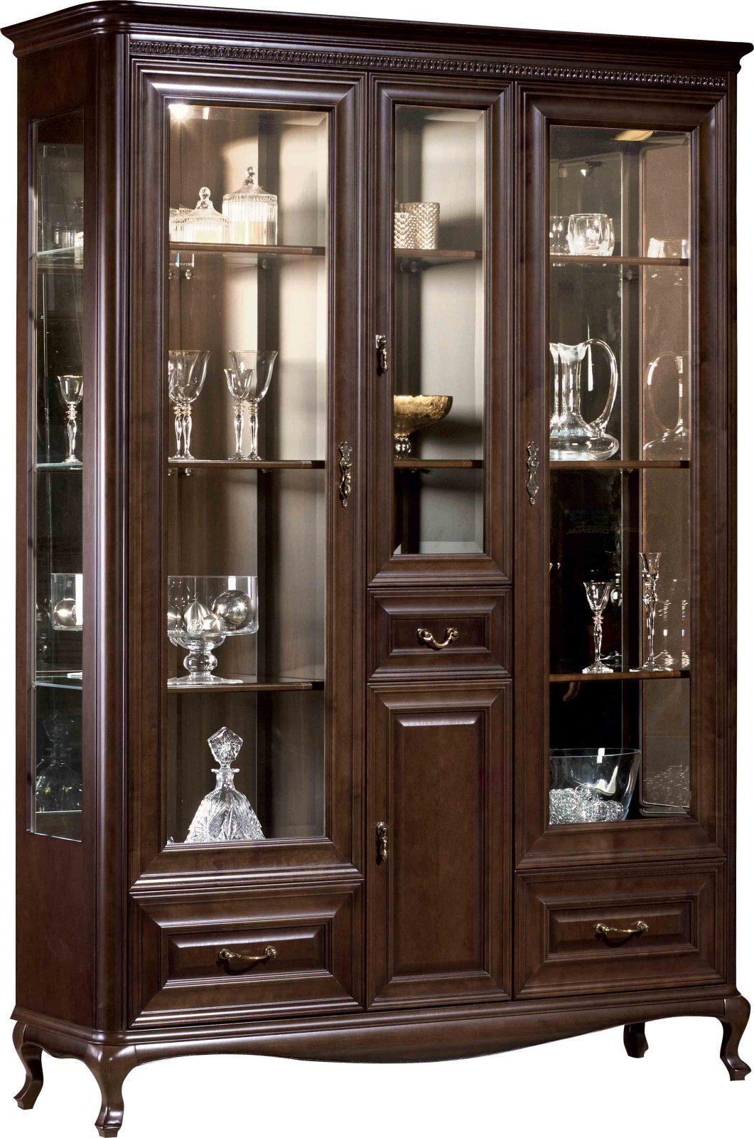 Тройна витрина V-W3 Verona - арт мебели естествено дърво