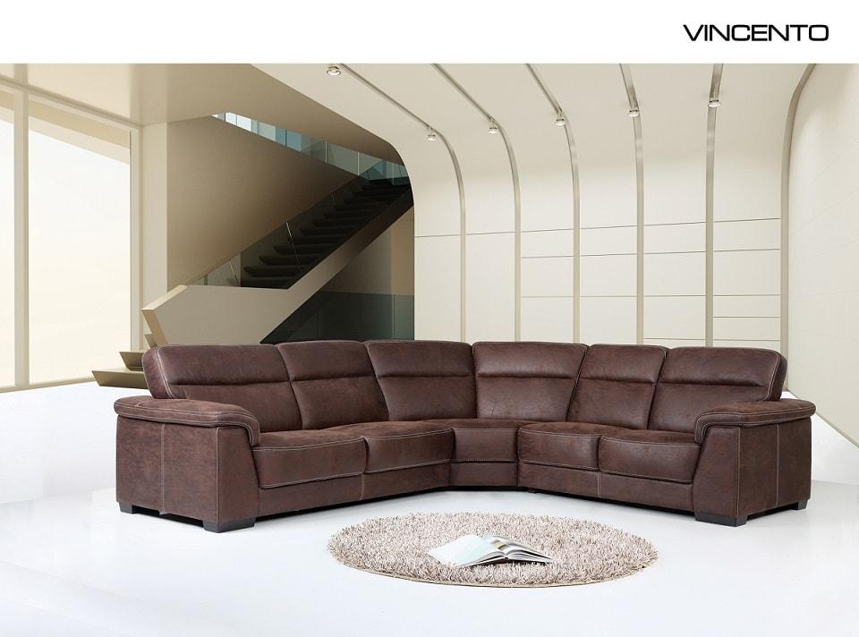Ъглов диван Vincento - арт мебели естествено дърво