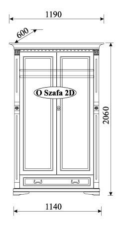 Гардероб O-2D Orfeusz - арт мебели естествено дърво