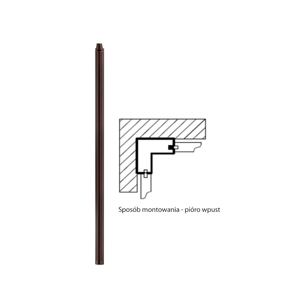 Ъглов елемент за висок панел Monaco - арт мебели естествено дърво