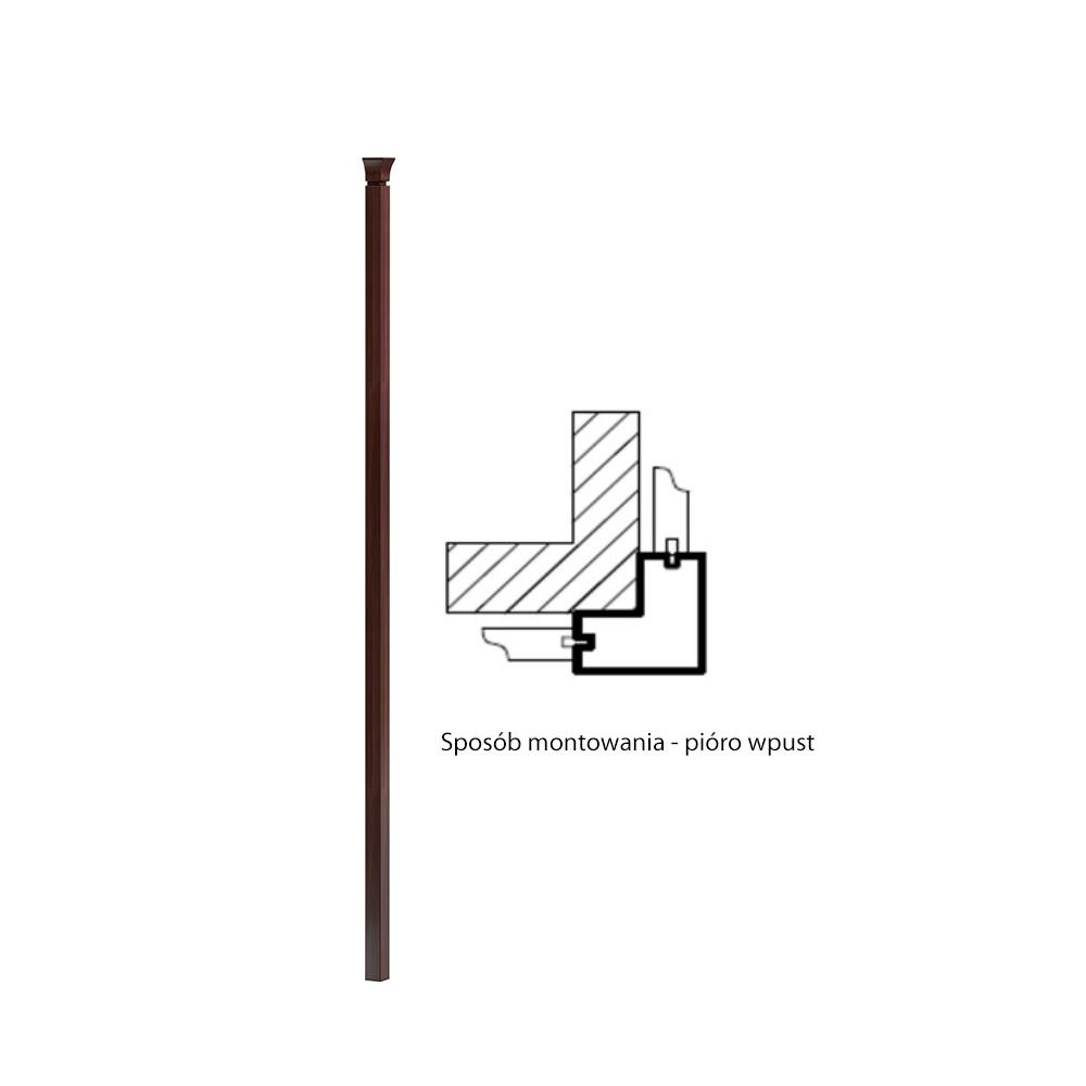 Ъглов свързващ елемен за висок панел Monaco - арт мебели естествено дърво