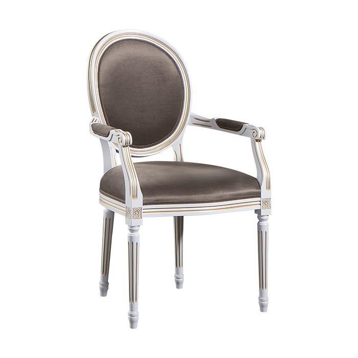 Стол с подлакътници T Verona - арт мебели естествено дърво