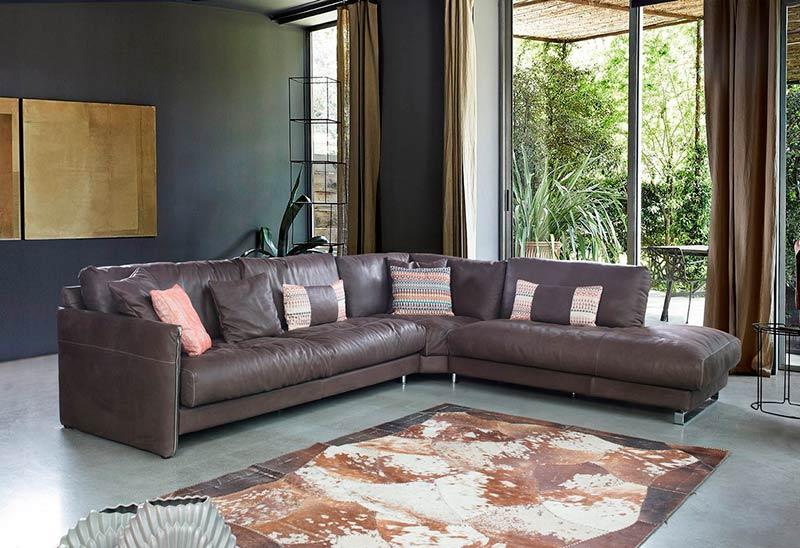 Ъглов диван Bond - арт мебели естествено дърво