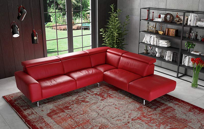 Ъглов диван Fame - арт мебели естествено дърво