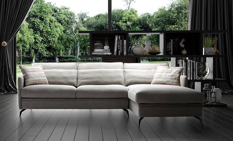 Диван с лежанка Lago - арт мебели естествено дърво
