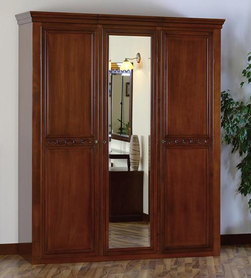 Гардероб с три врати Anastasia - арт мебели естествено дърво