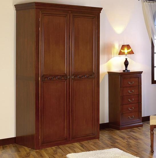 Гардероб с две врати Anastasia - арт мебели естествено дърво