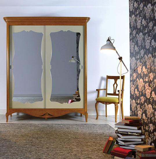 Гардероб с плъзгащи врати VN2203 Veneta - арт мебели естествено дърво