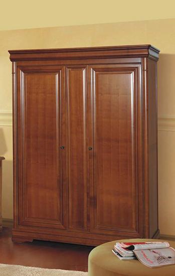 Гардероб с две врати Jasmin - арт мебели естествено дърво