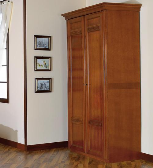 Гардероб с две врати Romlux - арт мебели естествено дърво
