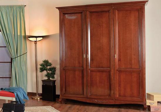 Гардероб с три врати Vivere - арт мебели естествено дърво