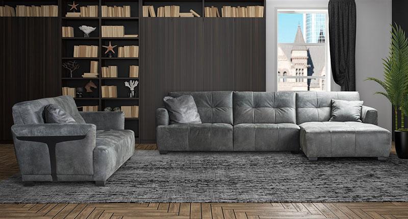 Диван Amalfi - арт мебели естествено дърво