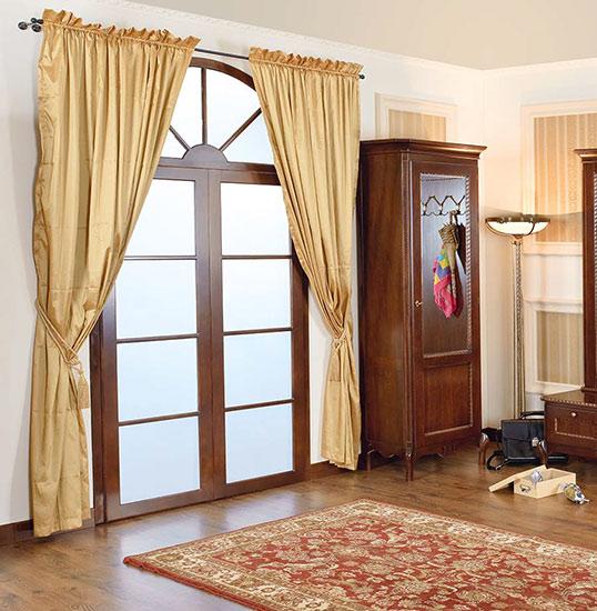 Единичен гардероб Paris-M - арт мебели естествено дърво
