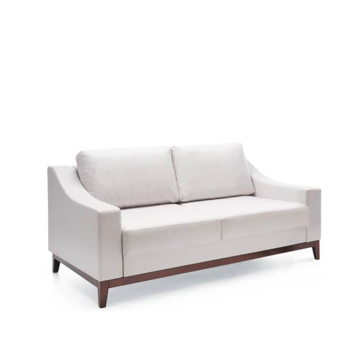 Двоен диван VIA - арт мебели естествено дърво