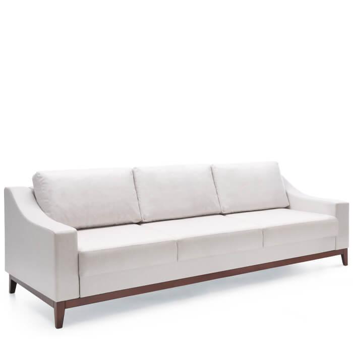 Троен разтегателен диван VIA DL - арт мебели естествено дърво