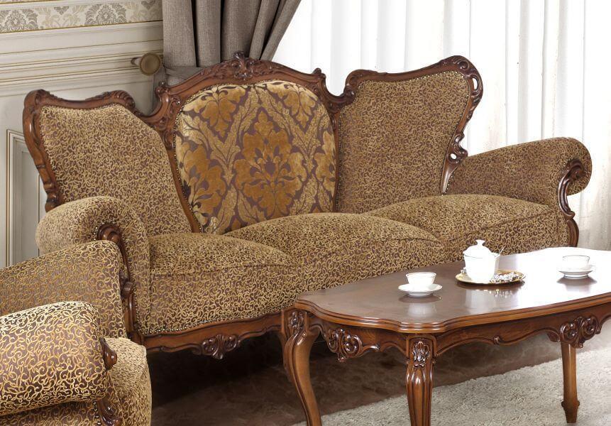 Диван Royal - арт мебели естествено дърво