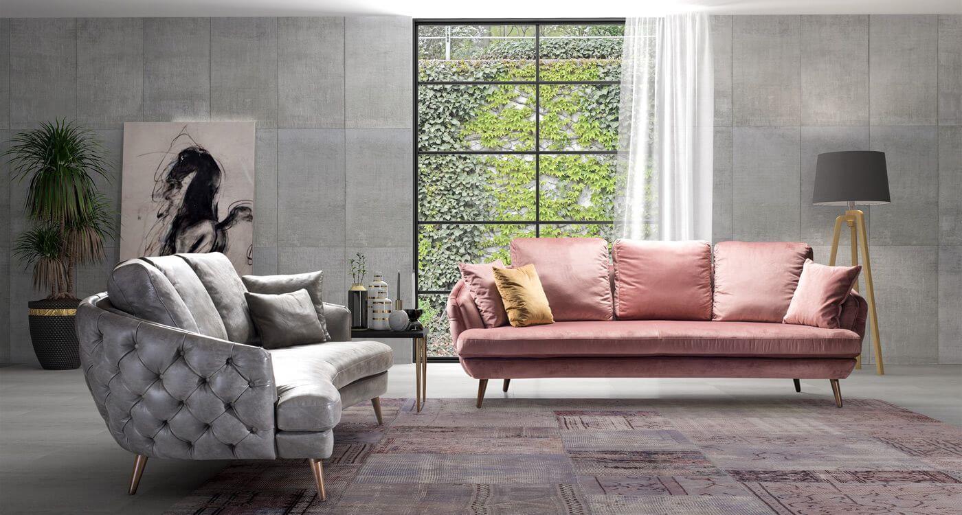 Диван Richmond - арт мебели естествено дърво