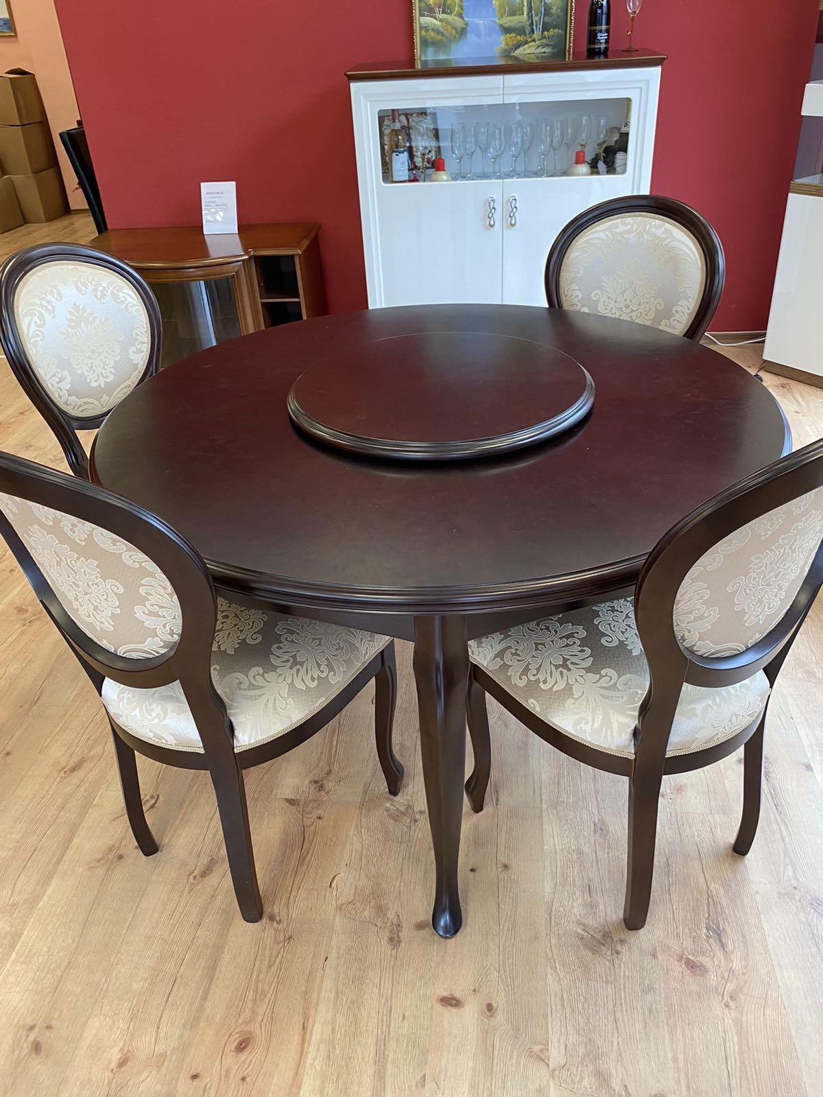 Кръгла маса - арт мебели естествено дърво