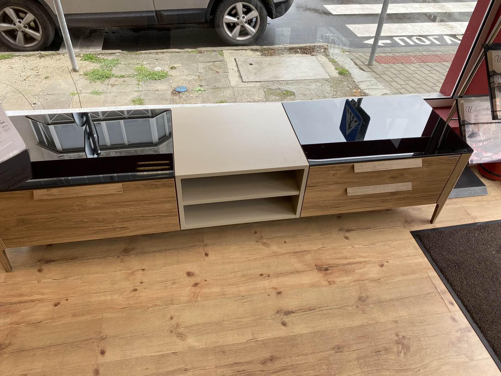 TV шкаф Siento - арт мебели естествено дърво